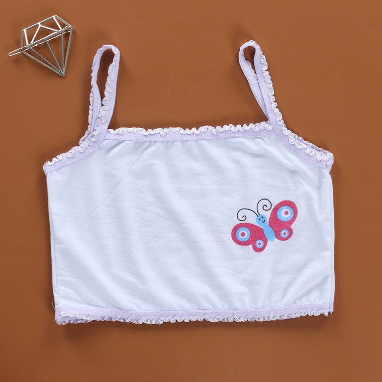 3pc Teenage Underwear For Girl Children Girls Cutton Lace Wireless Young Training Bra For Kids And Teens Puberty Clothing