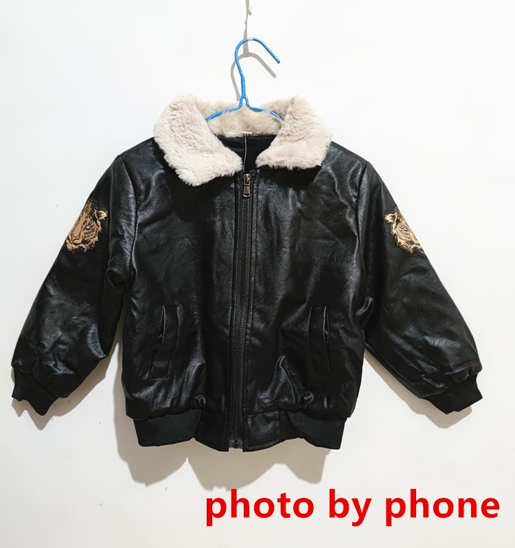 2020 Baby Girl Boy Spring Autumn Winter PU Coat Jacket Kids Fashion Leather Jackets Children Coats Overwear Clothes
