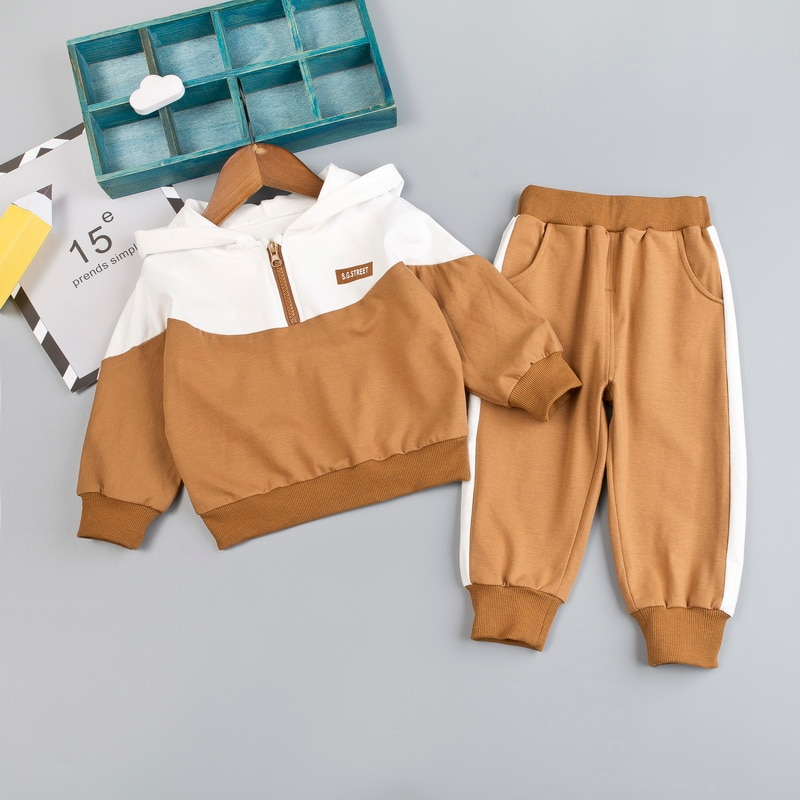Kid Boy clothing Set Hooded for Baby Clothes Tracksuit Autumn Spring Toddler Sport Zipper Outfit Suit 1 2 3 4 Years