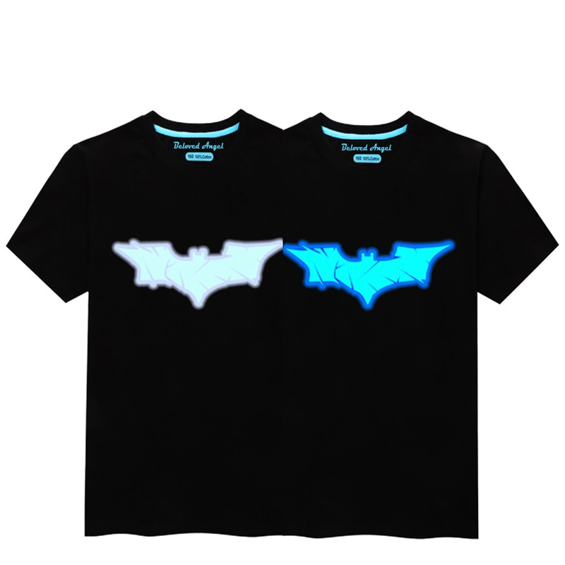 Glow In Dark Kids T Shirt 3D Luminous Children Clothes Baby Boys Girls Casual T-shirt Summer Short Sleeve Tee Tops Punk Rock