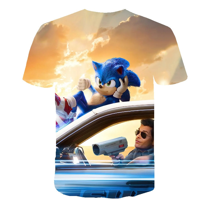 Summer Fashion Sonic the hedgehog T-shirt Children Boys Short Sleeves Newest Sonic Tees Baby Kids 3D Tops For Girls Clothes
