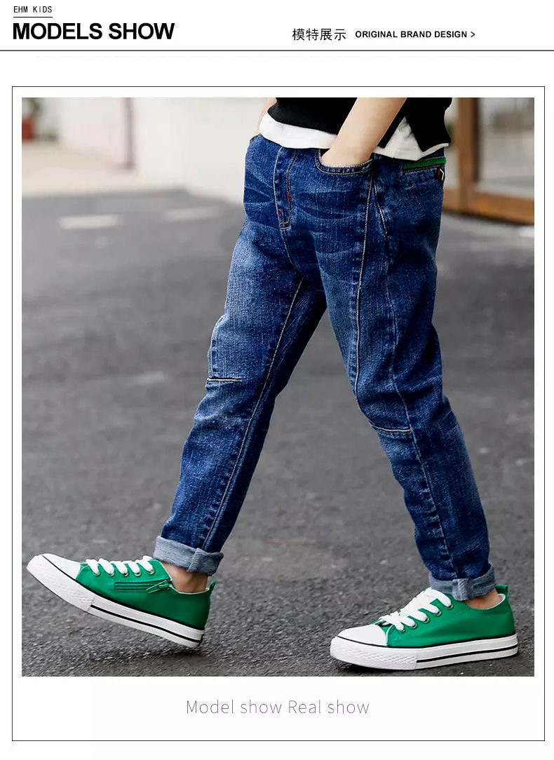 High Quality Autumn Spring Baby Jeans For Boys Pants Kids Clothes Cotton Casual Children Teenager Denim Trousers Boys Clothes