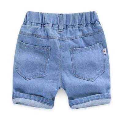 Baby Boy Shorts Jeans 2020 Summer Boys Printing Denim Cotton Casual Kids Short Pants For Children Trousers 2-7 Years Clothing