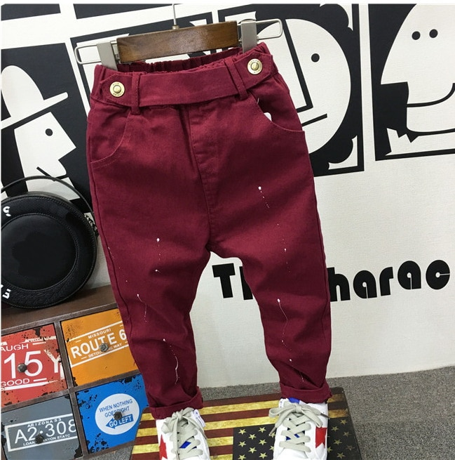 fashion baby clothing 2-6years baby boys soft jeans trousers Kids jeans blue casual pants spring autumn trousers denim