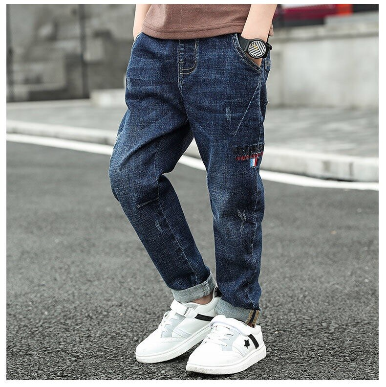 Boys Jeans High Quality 2020 Spring Autumn Fashion Boys Jeans Casual Children Clothing Denim Trousers Kids Pants Clothes 4-15Y