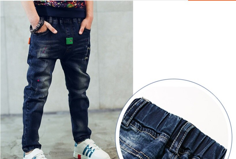 Kids Clothing 2020 Spring and Autumn new boys jeans personality patch casual pants Children jeans