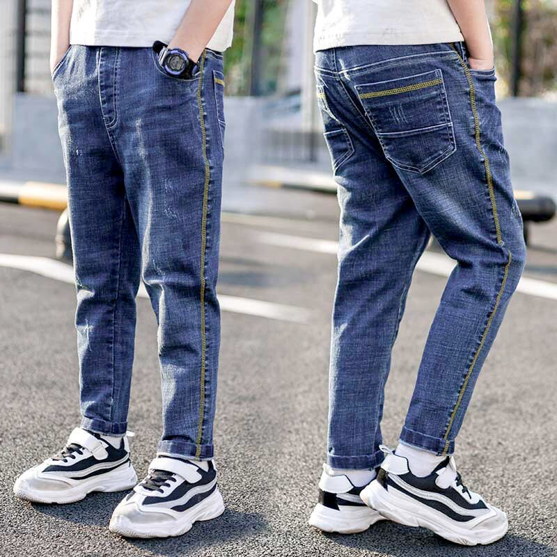 2020 New Autumn Spring Baby Boys Jeans For Kids Pants Cotton Casual Children Teenager Denim Trausers Boys Clothes High Quality
