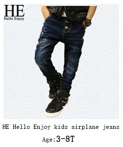 HE Hello Enjoy Girls jeans pants spring Autumn 2019 children's clothing jeans blue denim trousers casual pant Baby Children Pant