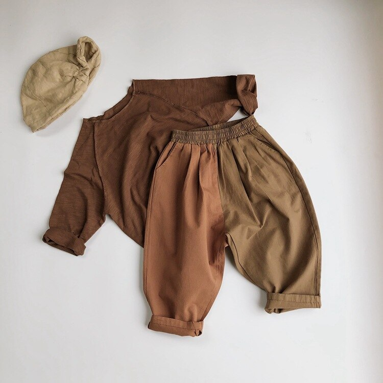 Spring Autumn Kids Baby Boys Girls Loose Pants Children's Clothing Joint Turnip Pants Casual Pant Baby Boys Girls Children Pants