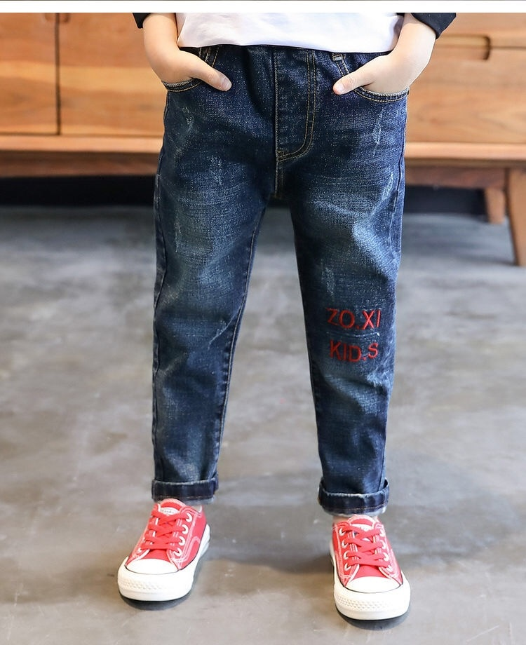 4-15 Years 2019 New Fashion Warm Jeans For Teenagers Boys Spring Summer Casual Kids Cotton Clothing Children Trousers Clothes