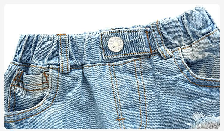2020 Summer Children Ripped Denim Shorts Casual Jeans Short Pants Boys Children Trousers Kids Clothing Jeans For 2-8T
