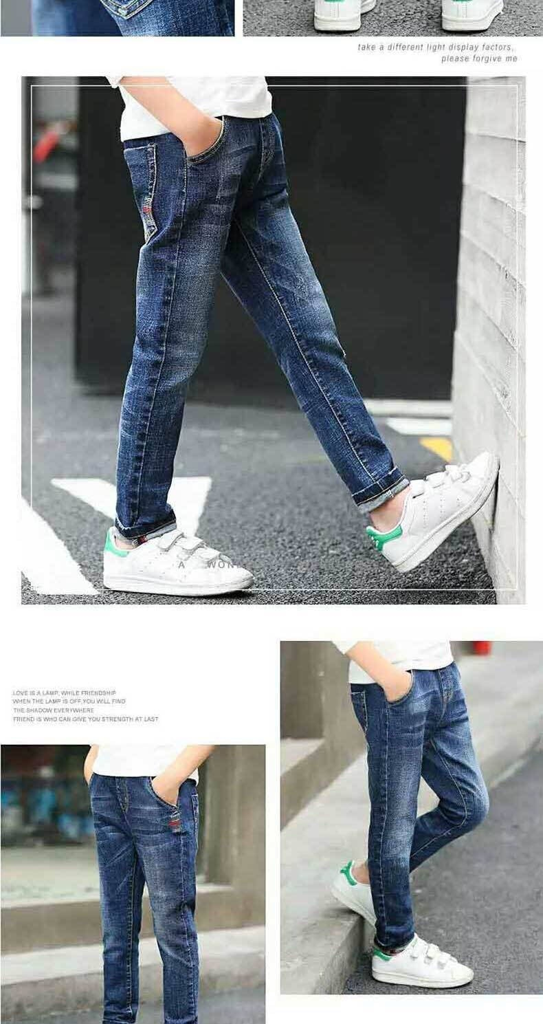 Liakhouskaya Brand Jeans For Boys Teenagers Denim Pants 2019 Children Spring Kids Warm Jeans 4/5/6/7/8/9/10/11/12/13/14/15/16 Y