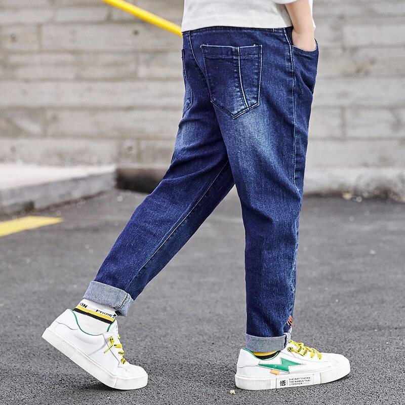 IENENS Baby Boys Jeans Denim Trousers Children Clothes Kids Stretch Jeans Jeans Young Boy Straight Cowboy Trousers Casual Pants