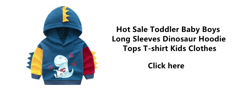 2019 Hot Toddler Baby Boys Girls Long Sleeved Stripe Dinosaur Hoodie Fleece Tops T-shirt Kids Clothes Baby Clothes for 2-8 Years