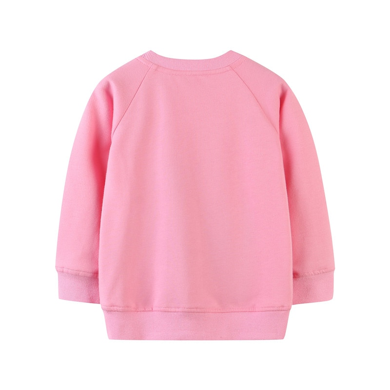 Jumping Meters Animals Cotton Girls Sweatshirts Applique Cute Children's Clothes for Autumn Winter Kids Clothing Hoodies Shirts