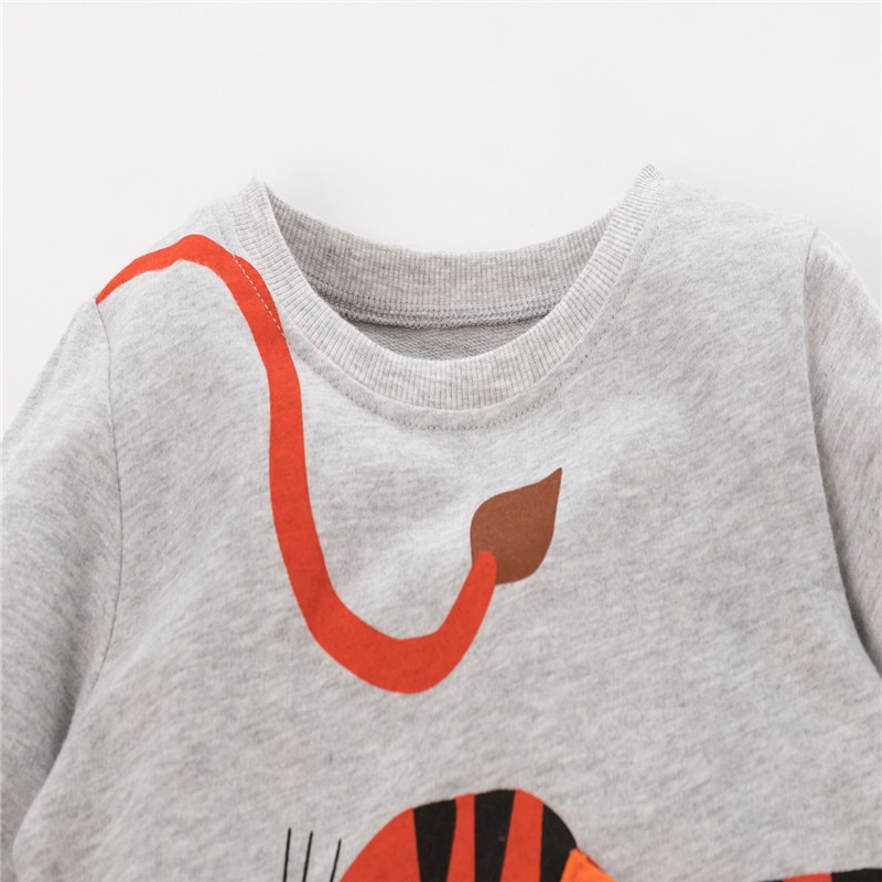 Jumping Meters 2-7T New Arrival Sweatshirts for Baby Cotton Clothes Autumn Winter Animals Sport Shirts Kids Tops