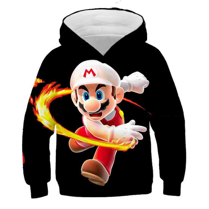 Cartoon Super Mario Funny Game 3D Print Family Clothes Baby Boy Hooded Kid Sweatshirt Fashion Pullover Girl Clothes Streetwear