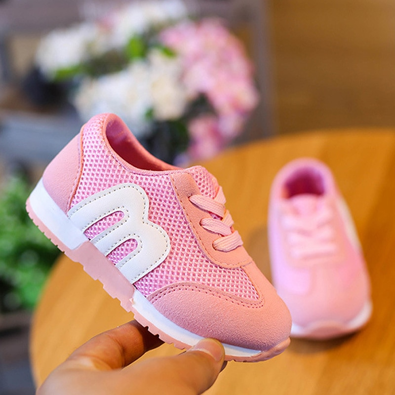 Spring Summer New Cotton Breathable Kids Shoes Sneakers Boys Girls Casual Shoes Anti Slip Sports Shoes Children Sneaker