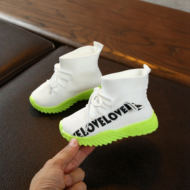 Fashion Children Casual Shoes Baby Shoes for Boys Girls Sneakers Breathable Anti-Slip Letter Print Shoe Soft Soled Spring Autumn