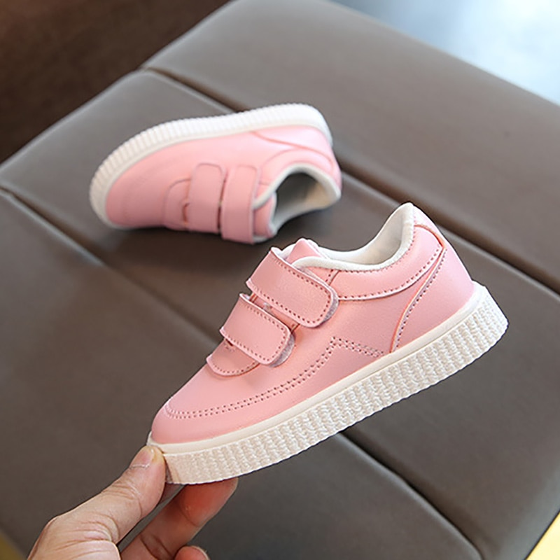 kids sneakers boys shoes girls trainers Children leather shoes white black school shoes pink casual shoe flexible sole fashion