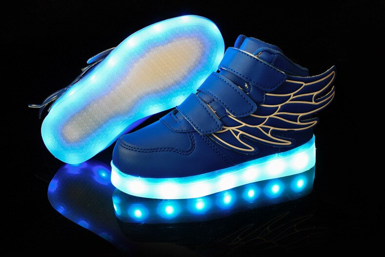 Size 25-37 Children Glowing Sneakers Kid Luminous Sneakers for Boys Girls Led Sneakers with Luminous Sole Lighted Shoes