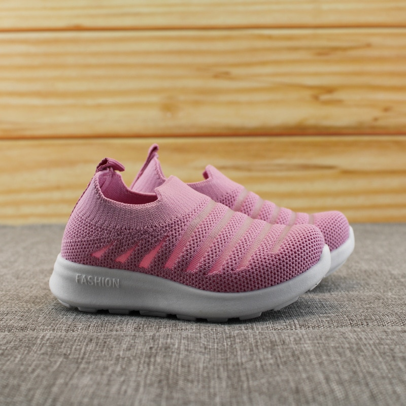 2020 Kids Shoes Anti-slip Soft Rubber Bottom Baby Sneaker Casual Flat Sneakers Shoes Children size Kid Girls Boys Sports Shoes
