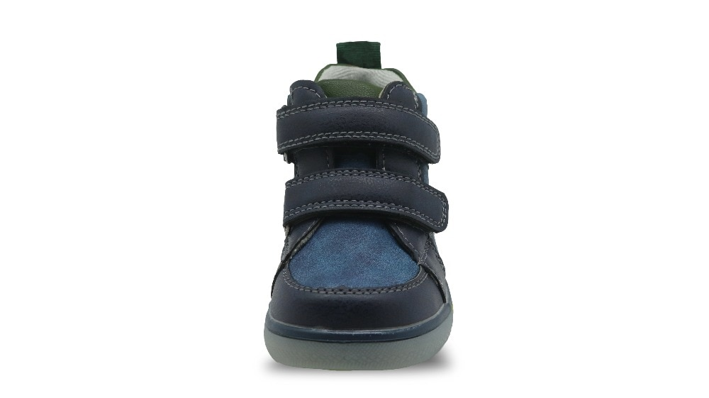 Apakowa Toddler Kids Boys Mid-cut Fashion Ankle Boots Outdoor Sports Walking Running Shoes Hook-and-loop Sneaker for Little Boys