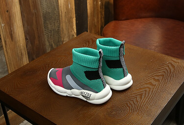 Children's Socks Shoes 2020 Spring and Autumn Korean Version of Knitted Casual Shoes for Boys and Girls Breathable Sports Shoes