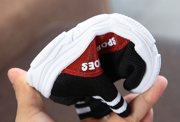 2020 autumn new fashion mesh breathable casual sports girl running shoes boy brand shoes baby toddler shoes socks shoes21-33