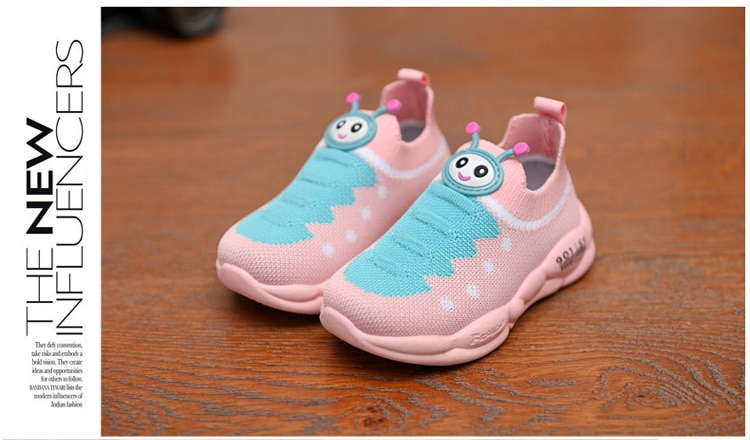 Baby Knitted Sneakers Kids Mesh Breathable Boys Girls Sports Running Shoes Lightweight Casual Child Infant Toddler Tennis Shoes