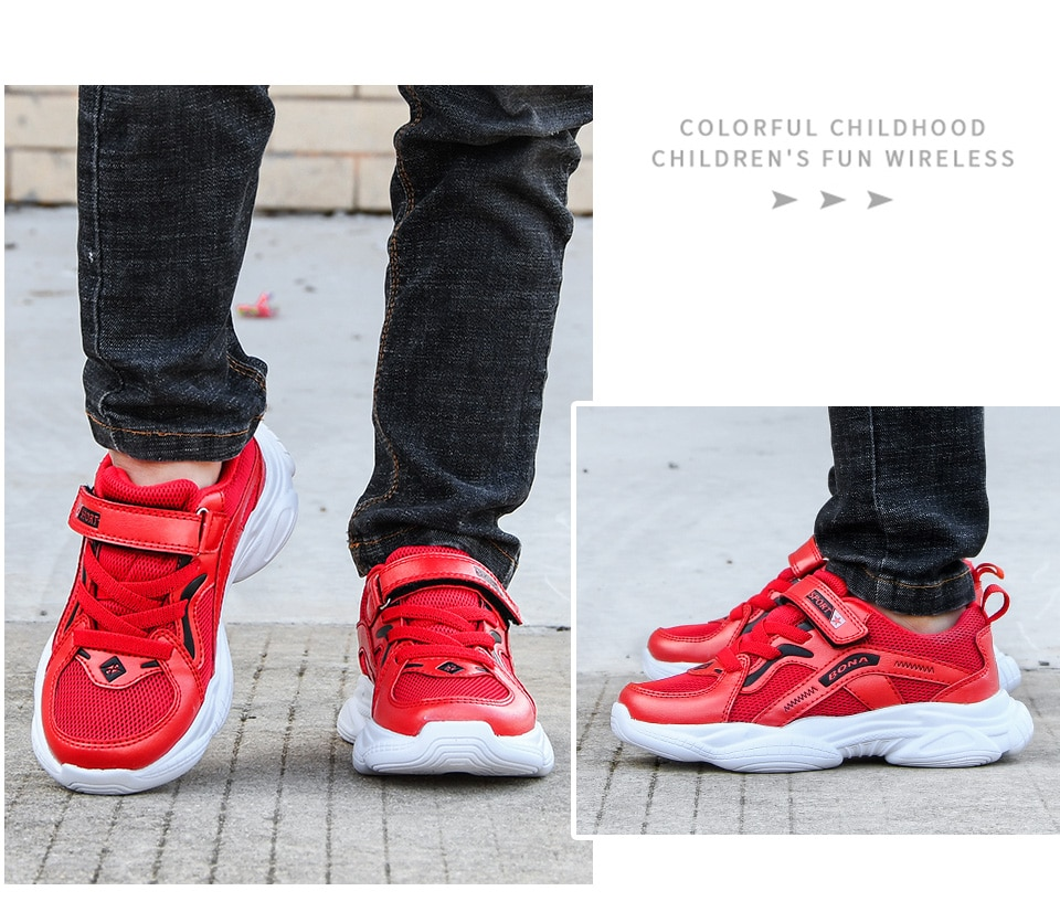 BONA 2020 New Designers Trendy Children Sneakers Outdoor Girls Walking Shoes Synthetic Casual Running Shoes Boys Jogging Shoes