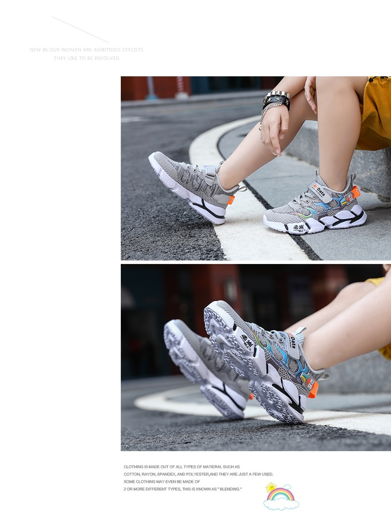 Children sports shoe girl casual shoes child breathable student tennis sneakers girl Flats boy bottom non-slip running shoe kdis