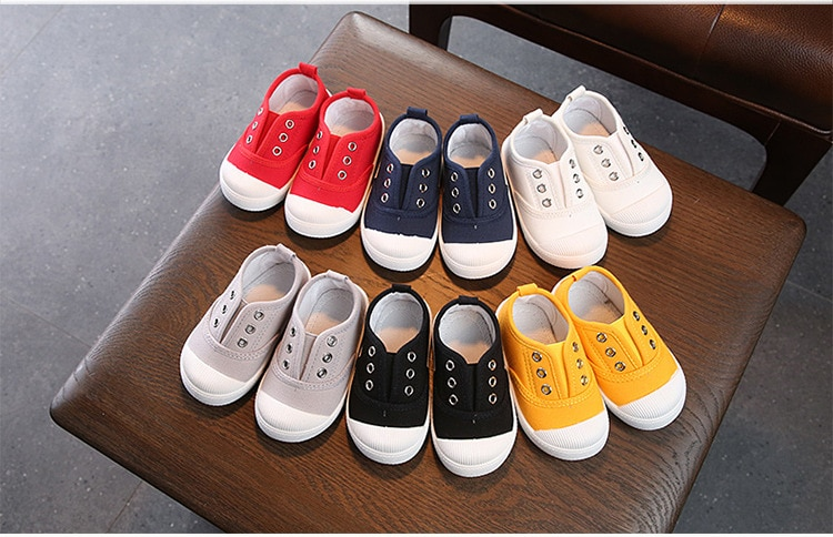 Elastic Band Autumn Shoes 2019 Flat Canvas Kids Boys Shoes For Girl Sneakers Children Baby Sport Light Shoes 1 2 3 4 5 6 Years