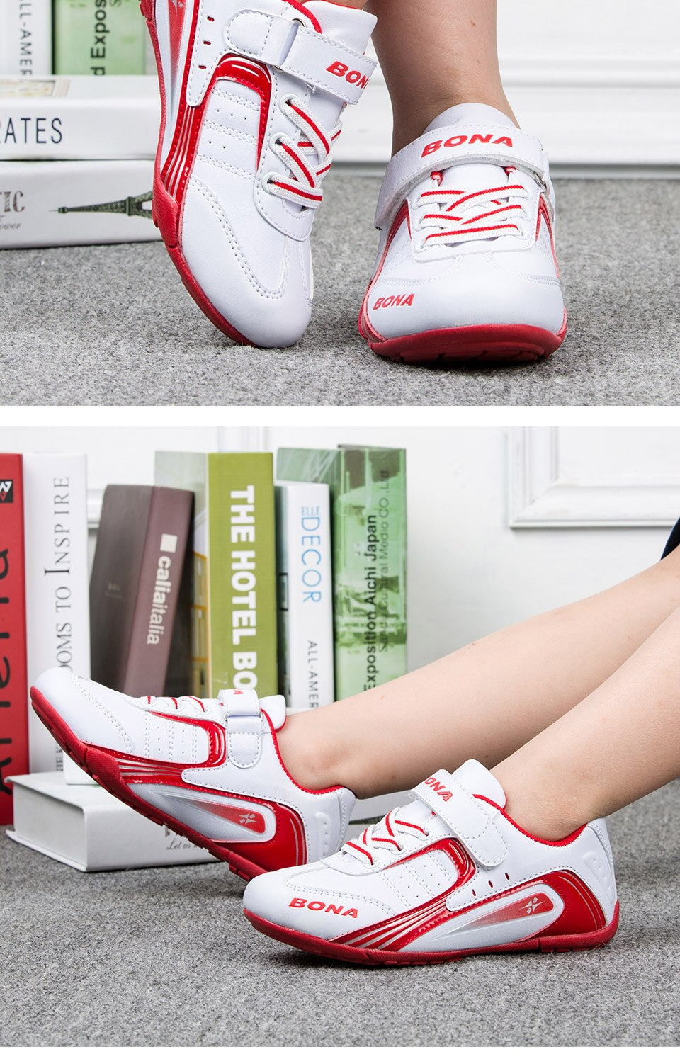 BONA New Hot Style Children Casual Shoes Outdoor Jogging Boys Shoes Hook & Loop Kids Sneakers Light Soft Free Shpping