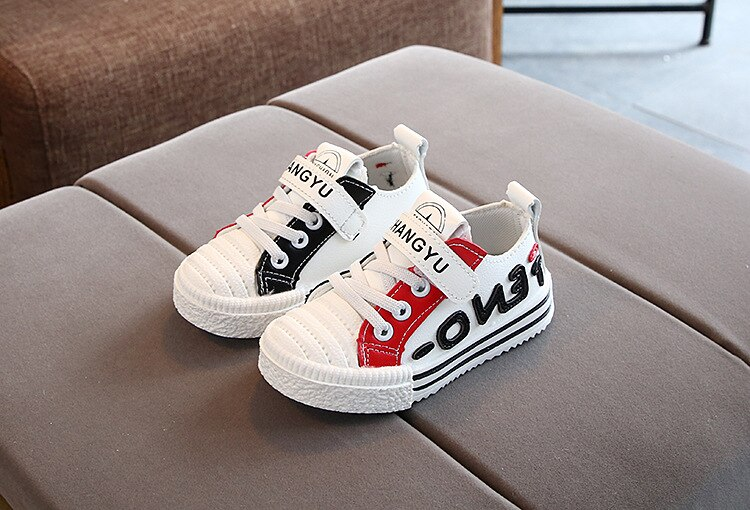 2020 New All-match Student Shoes Casual Children Footwear Flat Baby Boys Shoes Girls Sports Shoes Leather Toddler Sneaker C07042