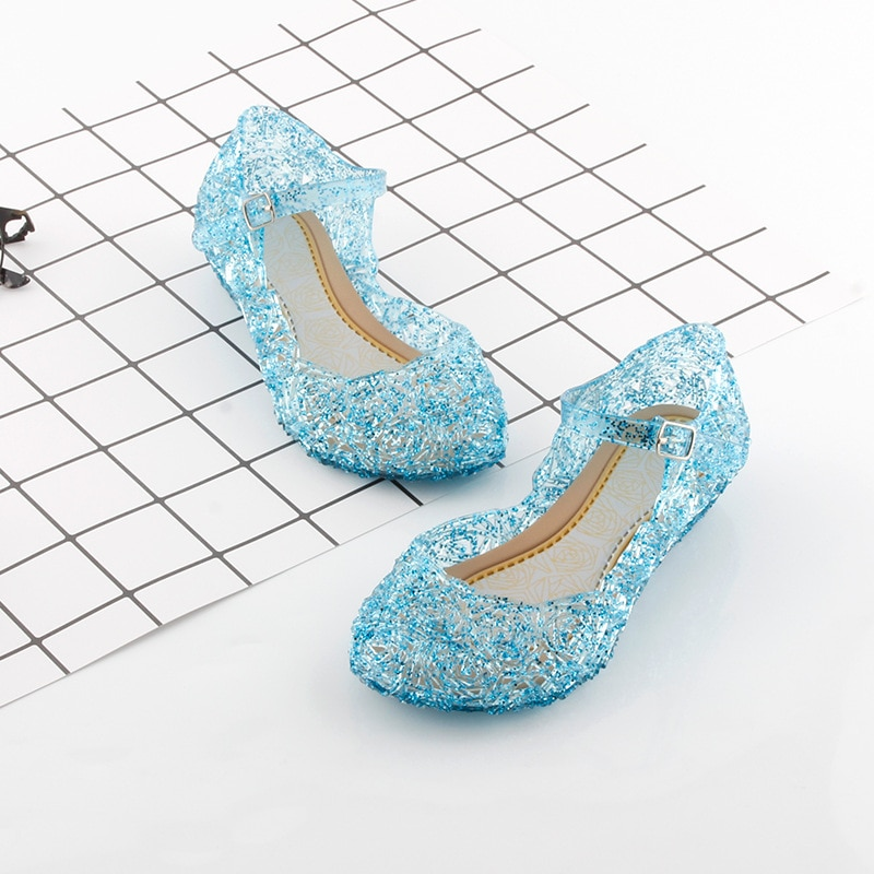 Christmas Princess Shoes Halloween Party Beach Sandals for Girls Kids Sequins Shoes Carnival Cosplay Children Wear