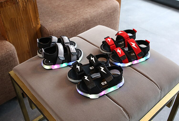 Boys Sandals Soft Bottom Children's Beach Shoes Kids Sandals Baby Comfortable Sandals Girls Beach Shoes Kids Casual Sandals