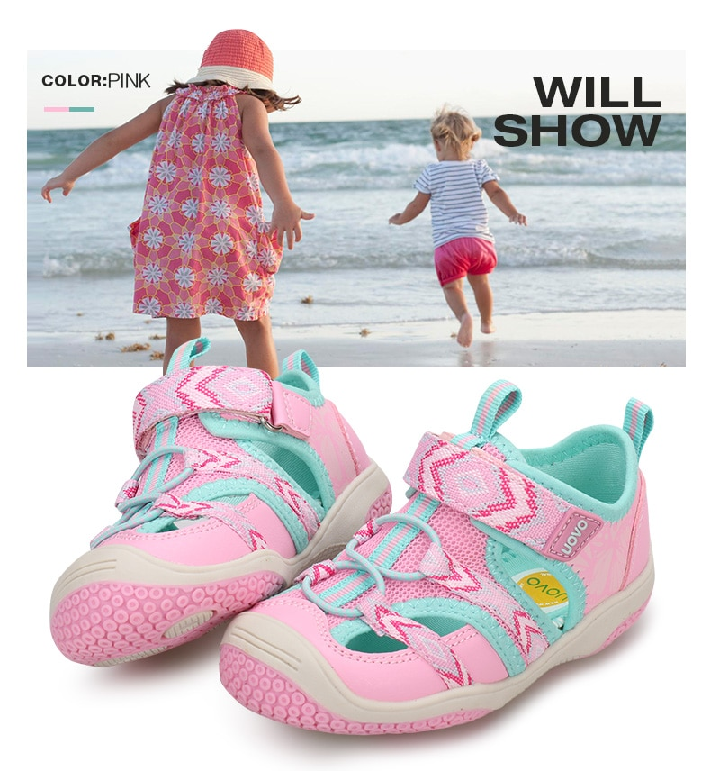 Little Kids Shoes Fashion Sandals Closed Toe 2020 New Arrival Sock Style Durable Rubber Sole Boys And Girls Sandals #23-28