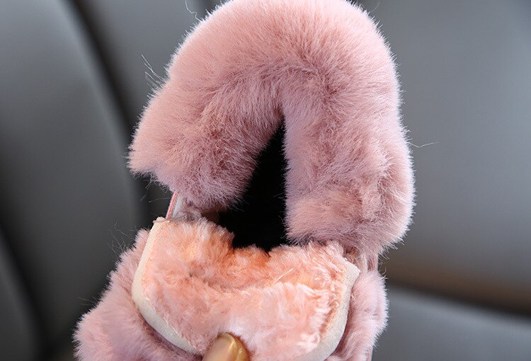 Rabbits Ears Boots Girls Suede Toddler Winter Boots Warm Fur Winter Shoes for Girl Bow Band Baby Snow Boots Kids Footwear C11181