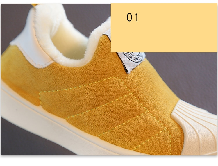 2019 Winter Girls Boys Snow Boots Toddler Infant Boots Warm Plush Outdoor Baby Boots Non-slip Comfort Kids Cotton Shoes