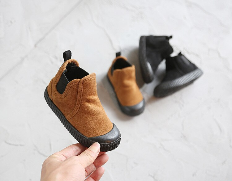 Winter 2019 New Children's Warm Cotton Shoes Fashion Simple Children's Boots 2~7 Years Old Boys and Girls High Snow Boots