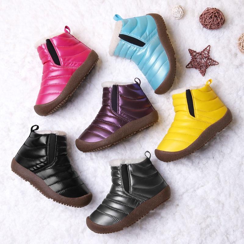 2020 Winter Boots Girls Waterproof Snow Shoes Kids Toddler Keep Warm Children For Girl Boys Boots Ankle Winter Baby Shoe Buty