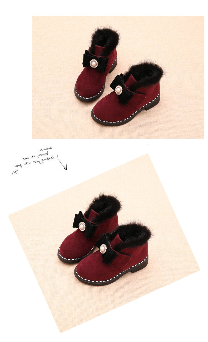 Children's Boots 2020 autumn and winter new girls' boots fashion plush short boots warm Hook&Loop children's Cotton Shoes