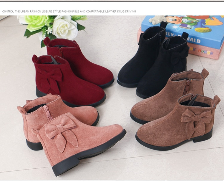 Winter Children'S Shoes Princess Boots Waterproof Boots 2019 Kids Girls Fashion Bow Warm Snow Boots 4 5 6 7 8 9 10 11 12 Years