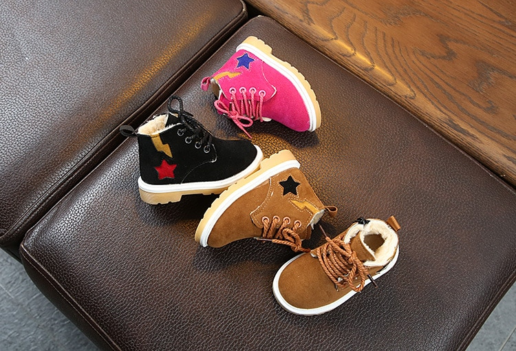2020 Winter Autumn Children Boots Waterproof Baby Fashion Sneaker Kids Snow Boots Boys Girls Martin boots Fur Casual Shoes