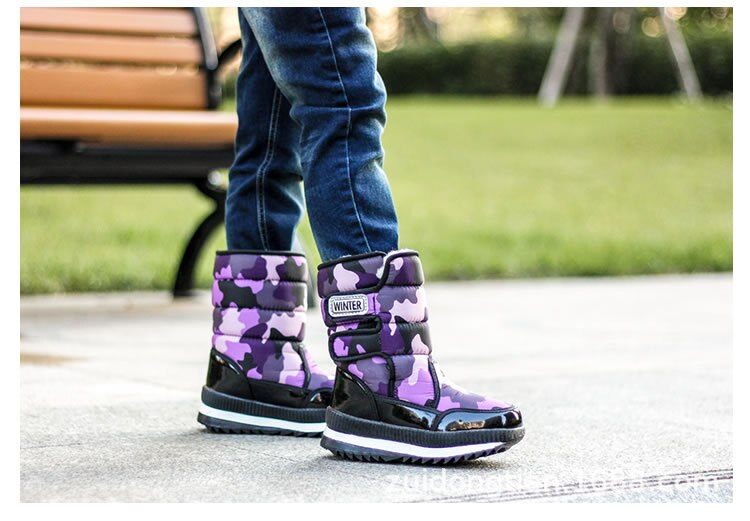 Boys Boots Children Snow Boots For Boys Sneakers Winter Kids Snow Boots Sport Fashion 2020 New Leather Children Shoes Girls