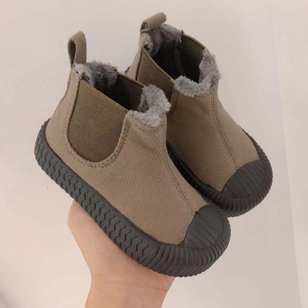 Winter Wool Teen Girls Chelsea Boot Warm Children Fashion Boots Big Boys Snow Boots PU Leather Sneakers Baby Kids