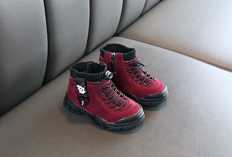 Children's Boots Girl Shoes Autumn And Winter Warm Boy Snow Boots Fashion Plus Velvet Winter Boots For Girls