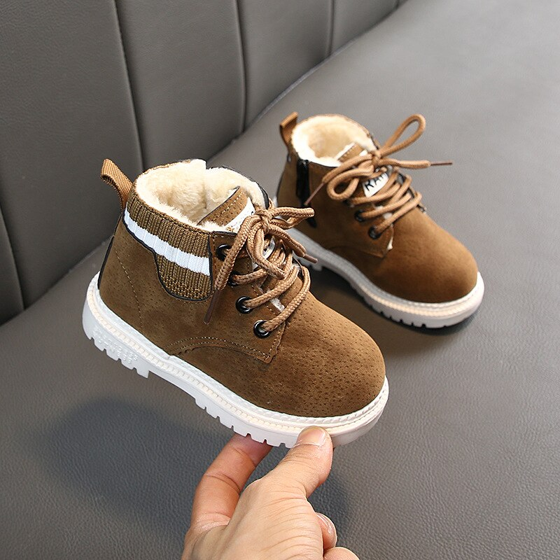 Baby Girls Boys Winter Boots Infant Toddler Plush Boots Martin Boots Soft bottom Non-slip Children Kids Outdoor Cotton shoes