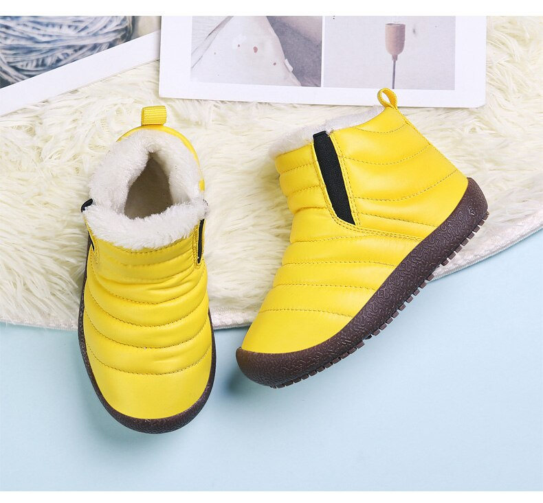 2020 New Winter Children Shoes Leather Waterproof Martin Boots For Brand Girls Boys Rubber Boots Fashion Sneakers Baby Snow Boot